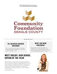 Community Foundation DeKalb County April Newsletter