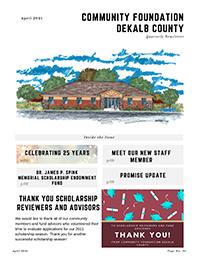 Community Foundation DeKalb County April Newsletter